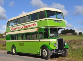 Green vintage bus for weddings in Taunton